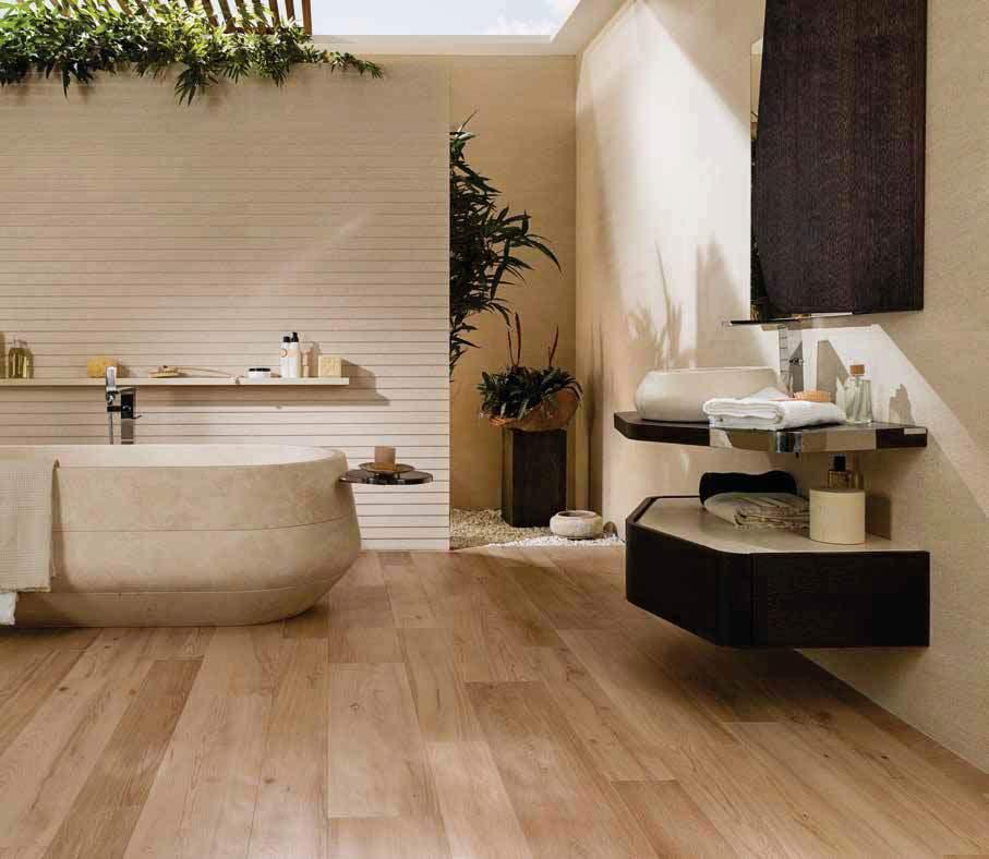 Porcelanosa ascot arce 22x90 p11400251 - Revetement de sol salle de bain ...