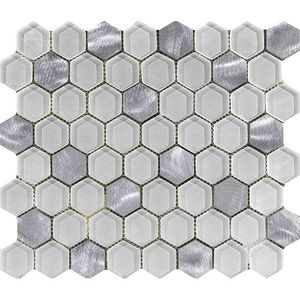 Fusion Hexagon White 29,5x25,5x0,8