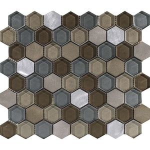 Fusion Hexagon Caramel Mix 29,5x25,5x0,8