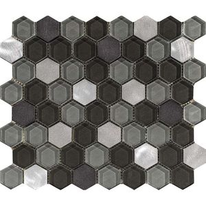 Fusion Hexagon Steel Mix 29,5x25,5x0,8