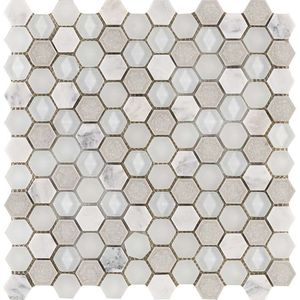 Aura Hexagon Whites 29x30x0,8