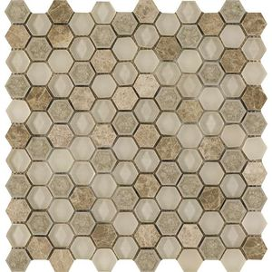 Aura Hexagon Creams 29x30x0,8